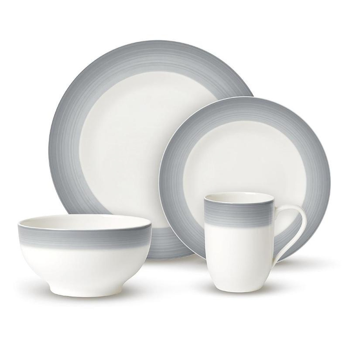 Villeroy Boch картинка Villeroy & Boch, Colourful Life - Cosy Grey Набор посуды For me & You из 8 предм. | Colourful Life